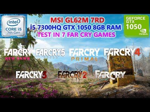 Far Cry Franchise (7 Games) i5 7300HQ GTX 1050 8GB RAM Benchmark Test |