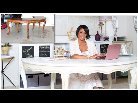 Decorate With Me | Home Office Makeover Series | Desk Upcycle