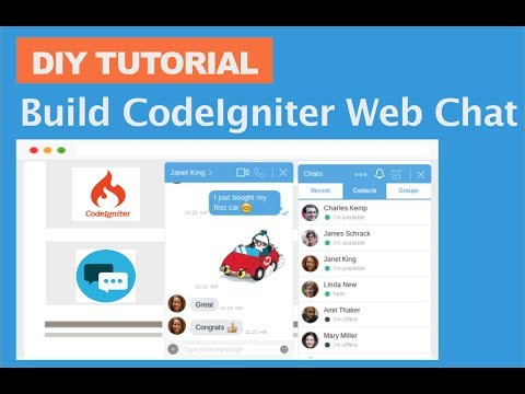 CodeIgniter Chat Tutorial: Creating Web Chat App In CodeIgniter
