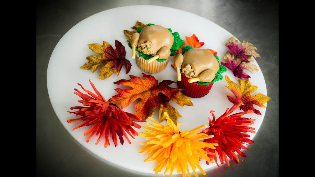 Fondant Turkey Cupcake Tutorial Perfect For Autumn and ...