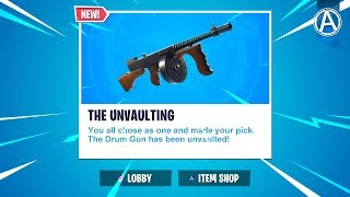 "NEW ""DRUM GUN"" UNVAULTED Gameplay! // 2100+ Wins // Use Code: byArteer (Fortnite Battle Royale LIVE)"