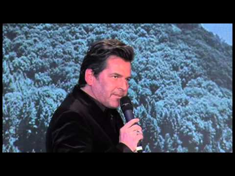 Thomas Anders. Running broadcast channel DRF1. Berlin, Germany. 07.02.2015