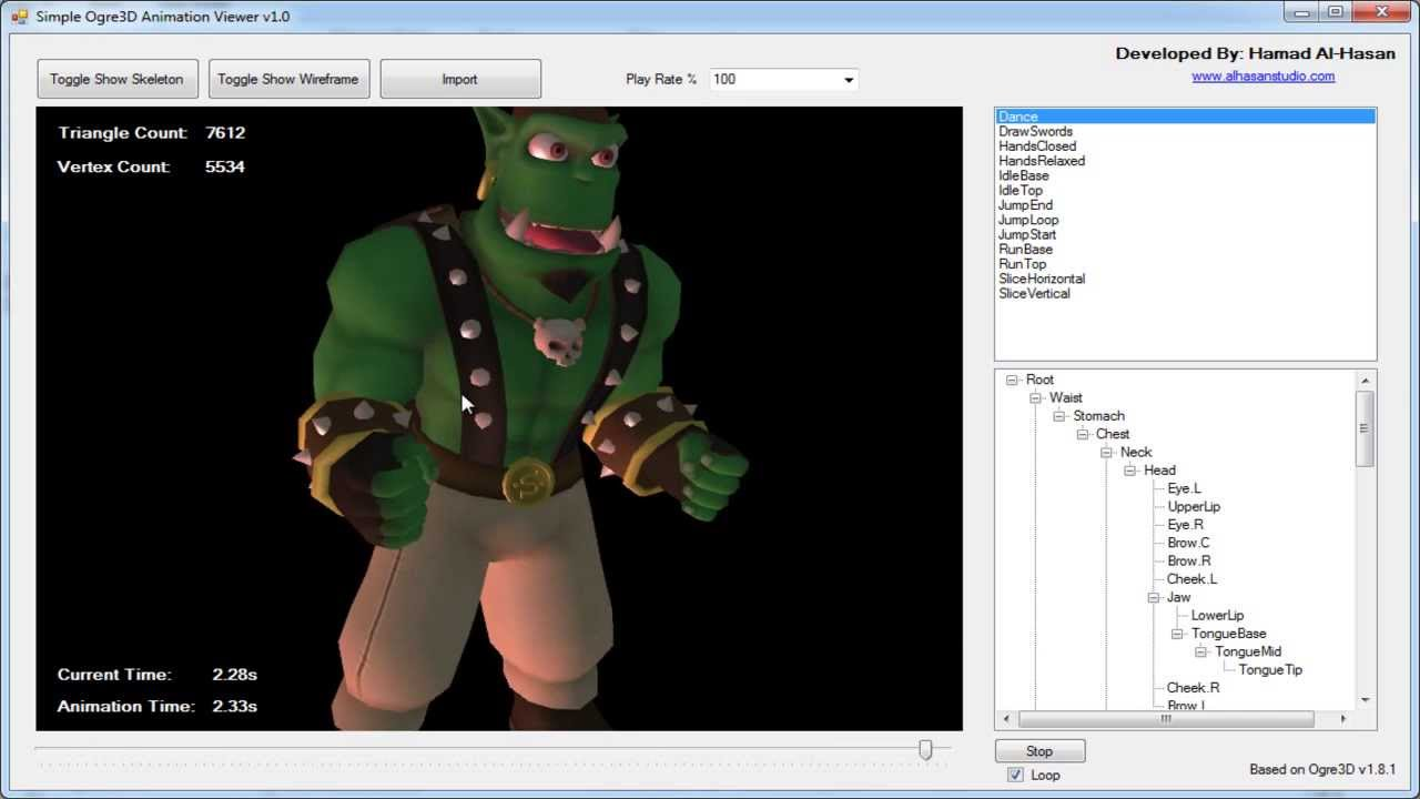 Simple Ogre3d Animation Viewer Demo Youtube