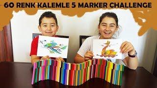 60 RENK İLE 5 MARKER CHALLENGE EĞLENCELİ VİDEO