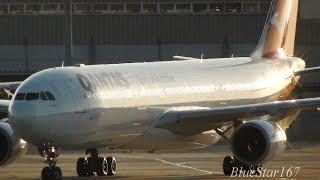 Qantas Airbus A330-300 (VH-QPF) taxiing at KIX/RJBB (Osaka - Kansai) RWY 06L