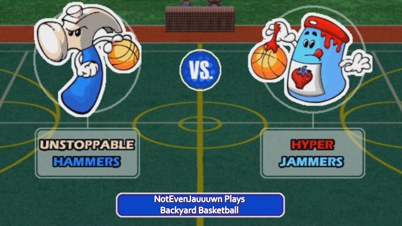 Game 1 (Season Opener) Of Backyard Basketball | Unstoppable Hammers VS  Hyper Jammers