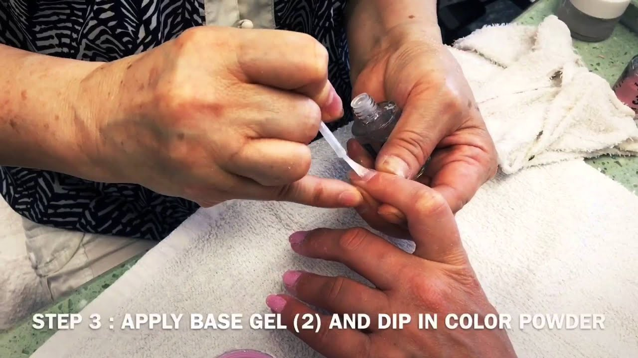How to Color Manicure Using NuGenesis Nails Dip Powder - YouTube