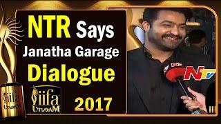NTR Says Janatha Garage Dialogue @ IIFA Utsavam || #IIFAUtsavam2017