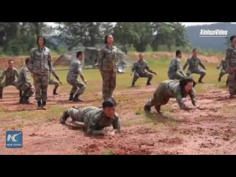 Watch how China's female special forces conduct training