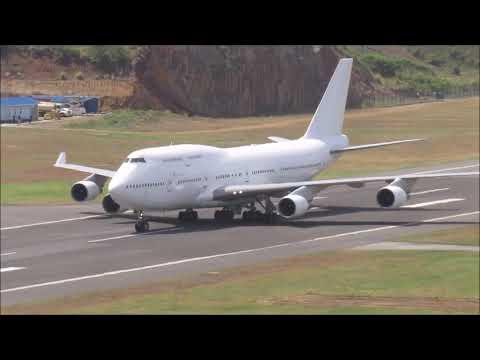 First  Boeing 747-400 @ Argyle International (One Caribbean)