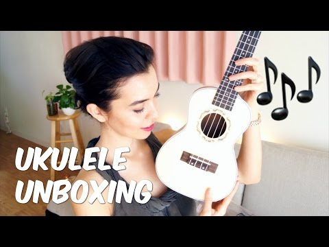 How to tune a NEW ukulele & unboxing video!!