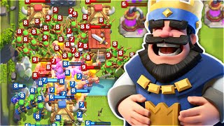 MOST INSANE SPAWNER BATTLE in Clash Royale! HOW MANY TROOPS CAN WE FIT?