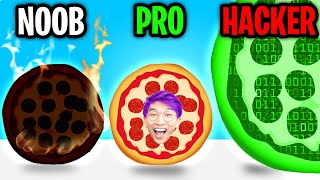 Can We Go NOOB vs PRO vs HACKER In PIZZAIOLO!? (FUNNY FOOD APP GAME!)