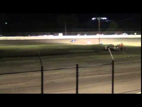 Kinzer Edwards - Micro A Feature - Caney Valley Speedway 7-26-2014