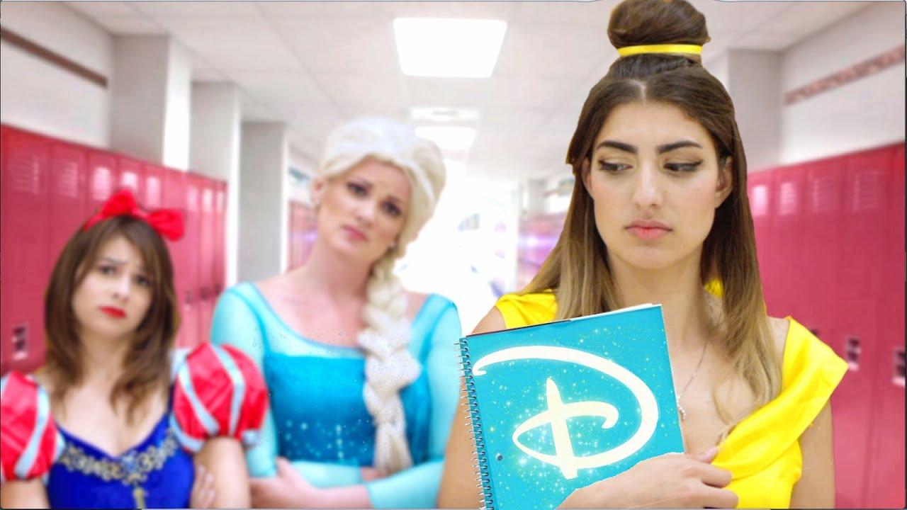 Disney Princess Go Back To School Youtube
