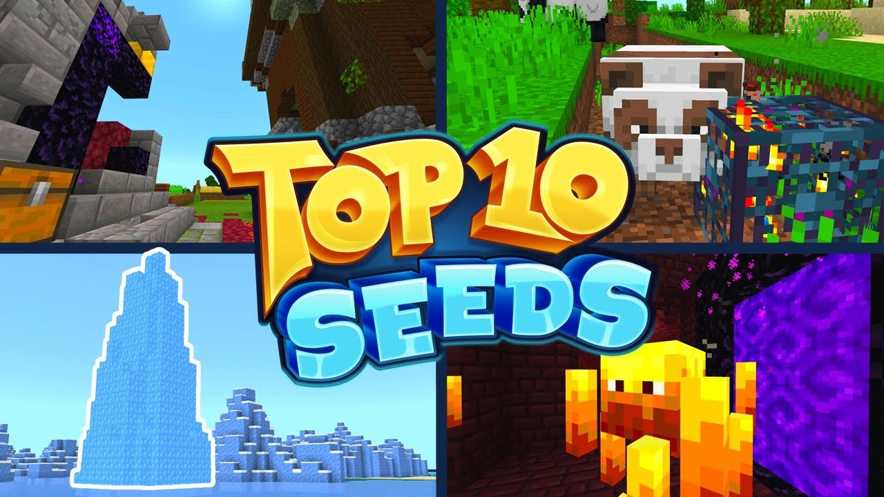 TOP 10 BEST NEW SEEDS For Minecraft 1.16 Bedrock Edition! (Pocket Edition, Xbox, PS4, Switch & W10)