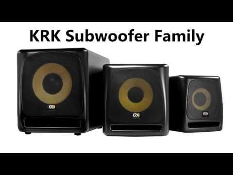 KRK Subwoofer Family - New 8 Inch Model Joins The Family