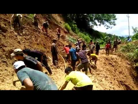 Landslide on National Highway 2 (Tipaimukh Road) Between Pherzawl and Damdiei