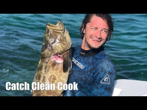 Spearfishing Black Grouper In Key Largo Florida {Catch Clean Cook}
