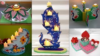 9 Diwali Creative Decoration ideas.... at Home !!! Best Out of Waste