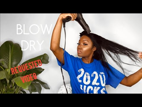 HOW TO: BLOW DRY WITH A PADDLE BRUSH| Requested Blow dry Video| April Sunny