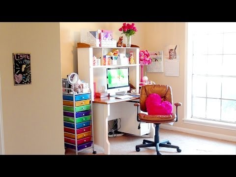 ROOM TOUR!!! A Tour Of My NEW Makeup Room, Office, & GIRL CAVE!