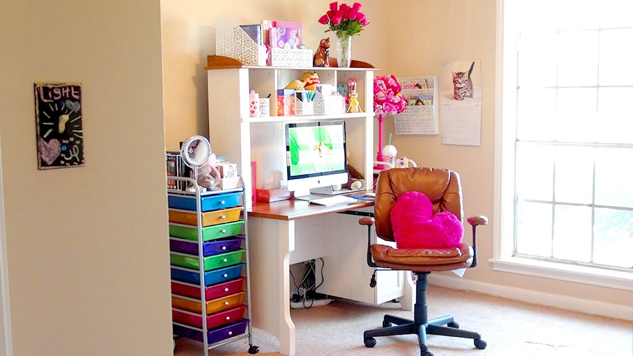 Room Tour A Tour Of My New Makeup Room Office Amp Girl