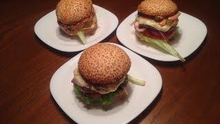 Домашний гамбургер - простой пошаговый видео - рецепт
