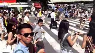 Road trip at Shibuya Tokyo Japan