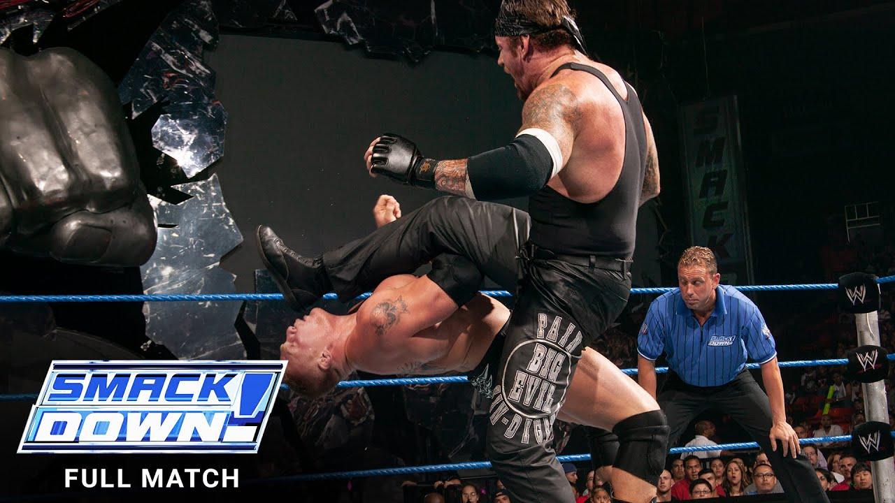 Download FULL MATCH - The Undertaker vs. Brock Lesnar vs. Big Show: SmackDown, Aug. 28, 2003