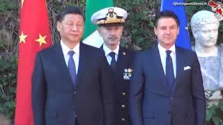 Via della Seta, l'arrivo del presidente cinese a Villa Madama per la firma del Memorandum