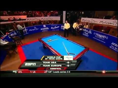 HD Billiard World Cup of Trick Shot 2012   USA vs Europe Part 1