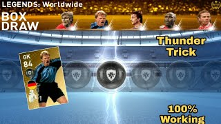 Thunder Black Ball Trick in Legends Worldwide Box Draw Pack Pes 2019 Mobile