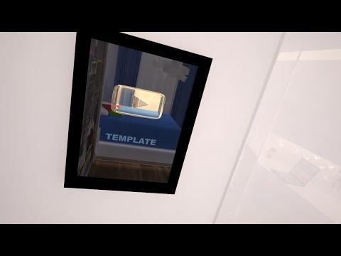 Mega C4d+AE Template (Gold YouTube Button)