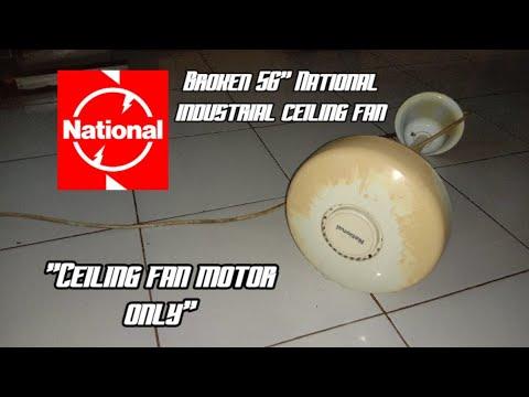 """Broken 56"""" National industrial ceiling fan"""