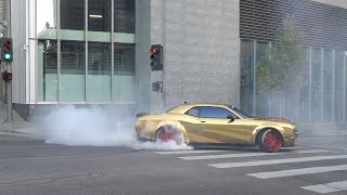 WE ALMOST CRASHED DOING BURNOUTS IN OUR HELLCATS!! *EMBARRASSING*
