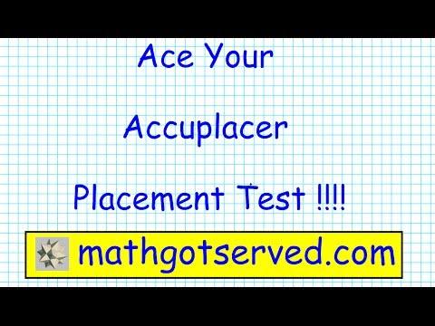 Accuplacer College Level Mathematics pt I