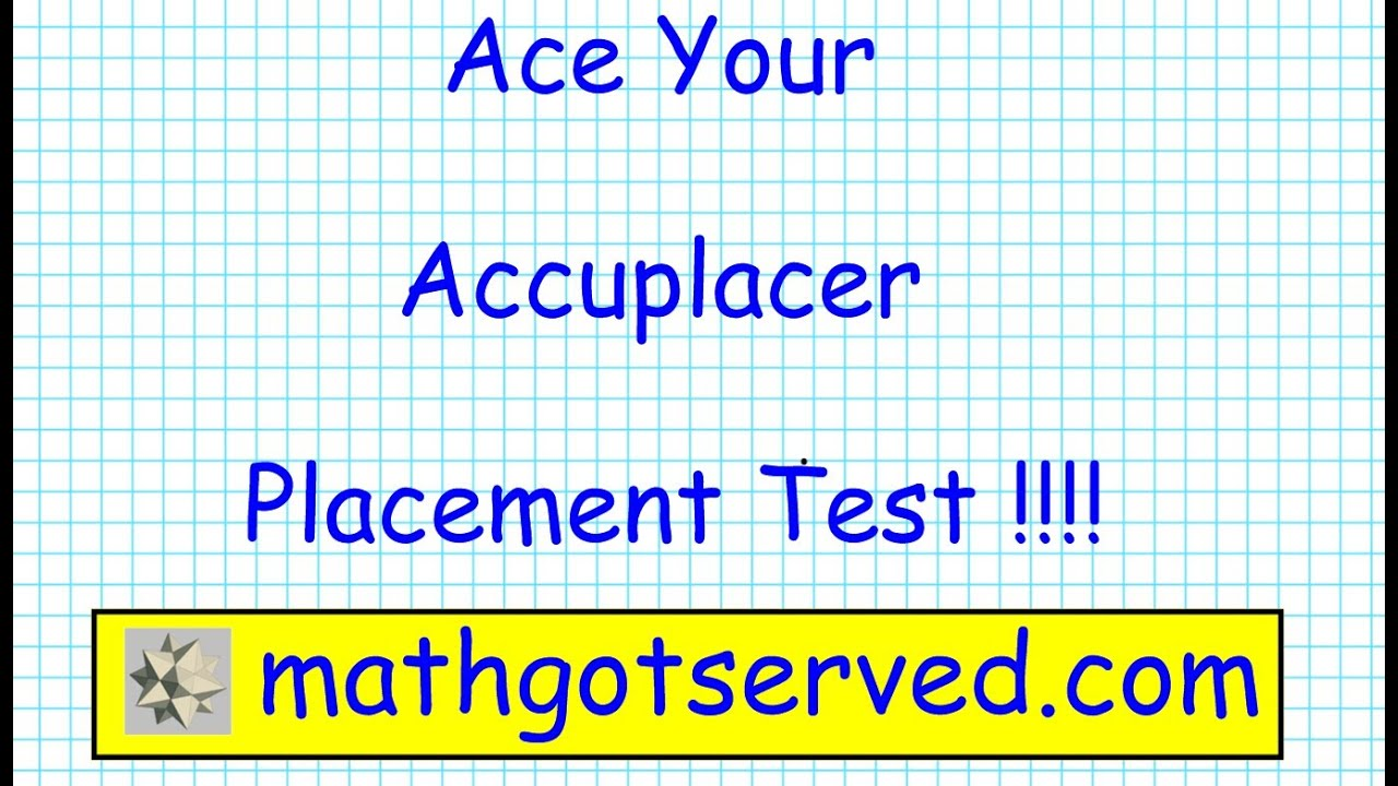 Accuplacer College Level Mathematics pt I - YouTube