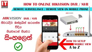 How to Online Hikvision DVR through Mobile App! Hik-Connect Configuration in Sinhala & English