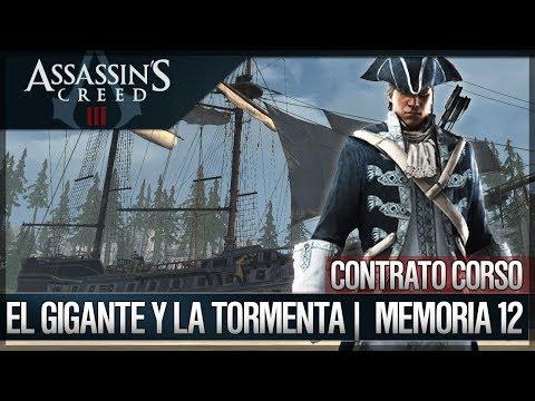 Assassin's Creed 3 - Walkthrough Español - Contratos Corso - El gigante y la tormenta [12] [100%]