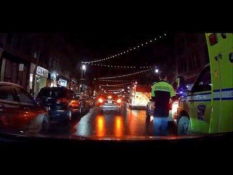 SPVM MONTREAL POLICE / ACTION ON SAINT-LAURENT BLVD. SATURDAY NIGHT EVENING