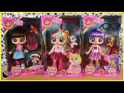 BFF Best Furry Friends Dolls Unboxing! Deluxe Besties Pack Cassandra Angelina Zoe | Birdew Reviews