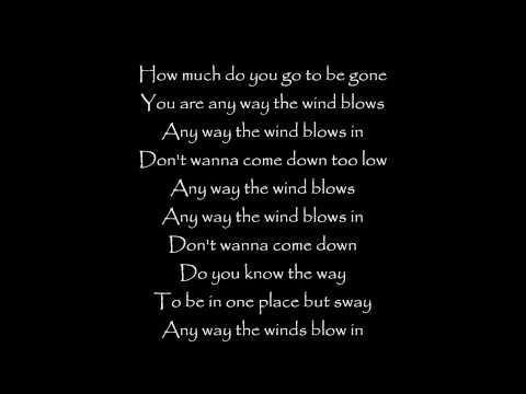 Any Way the Wind Blows - Sara Bareilles lyrics