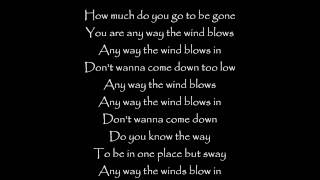 Any Way the Wind Blows - Sara Bareilles lyrics