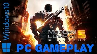 Modern Combat 5: Blackout Gameplay on PC | Windows 10 ( HD 60fps )