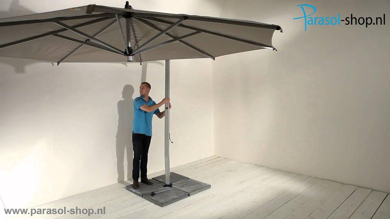 Borek parasol ischia zilver taupe batyline youtube