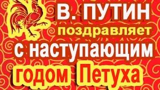В.Путин: С Наступающим Годом Петуха (голосовое смс)