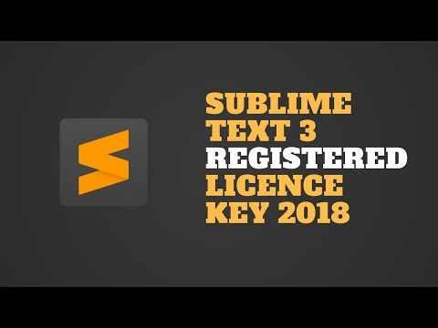sublime text 3 license key free