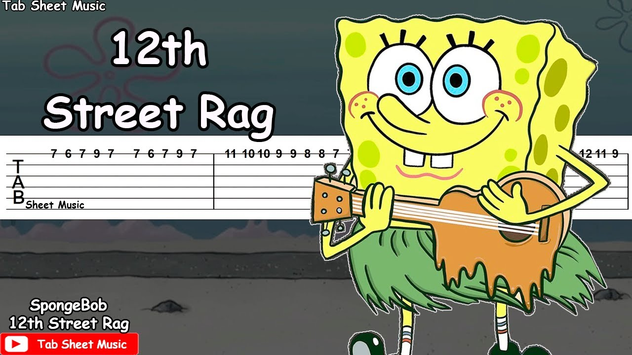 SpongeBob - 12th Street Rag Guitar Tutorial