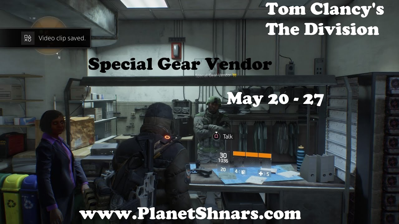 Special Gear Vendor - All Items for Sale - Tom Clancy's The Division - May  20 thru 27